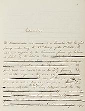 Poetry.- Mackay (Charles, Scottish poet and writer, 1812-89) The Salamandrine or Love and Romance, autograph manuscript corrected by the author, title and 150pp., numerous ink corrections, slightly browned, Mackay's bookplate on front pastedown,