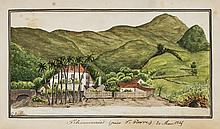 Caribbean & France.- Belloc (G.), Sketchbook of views in the Caribbean and France, including: Rum distillery in St. Pierre, Martinique, 19 watercolours and drawings (15 watercolours, 4 drawings), most cut down and mounted, some foxing and browning,