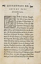Demetrius, Phalereus. De Elocutione, 1522.