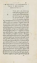 Cicero (Marcus Tullius) Orationum volumen primum [tertium], 1519.