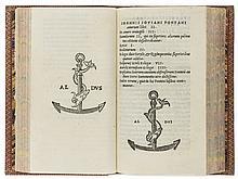 Pontanus (Johannes Jovianus) Amorum libri II, 1518.