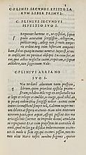 Plinius Secundus (Gaius) Epistolarum libri X, 1518.