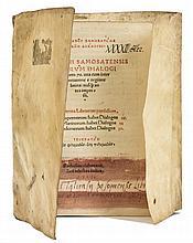 Lucian of Samosata. Deorum Dialogi numero 70, Strasbourg, Johann Schott, 1515.