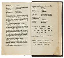 Gellius (Aulus) Noctium Atticarum Libri Undeviginti, 1515.