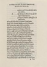 Dionysius Periegetes. De situ orbis, 1512.
