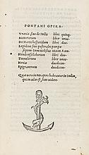 Pontanus (Johannes Jovianus) Opera, 1505.
