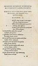 Augurelli (Giovanni Aurelio), [Poemata], 1505.