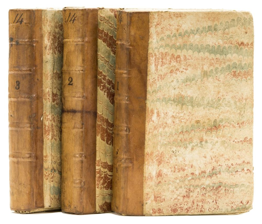 Fielding (Henry) The History of Tom Jones, a Foundling...A New Edition, 3 vol., engraved frontispieces, for T.Longman, B.Law & Son [& others], 1792.