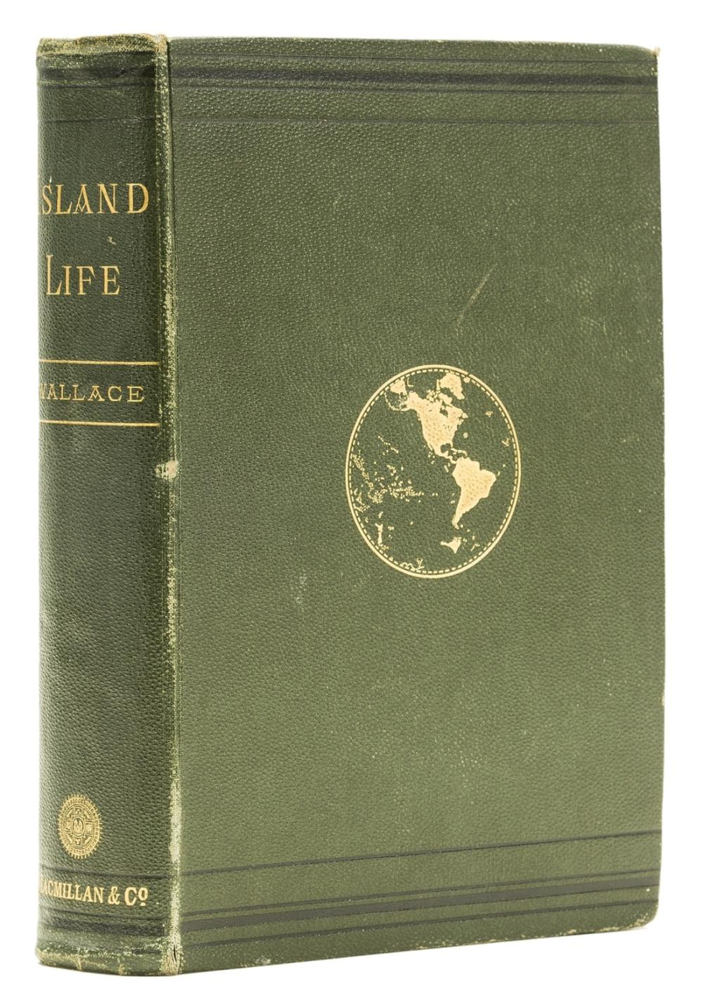 Wallace (Alfred Russel) Island Life: or, the Phenomena and Causes of Insular Faunas and Floras, first edition, 3 maps, one hand-coloured, original cloth, 1880.