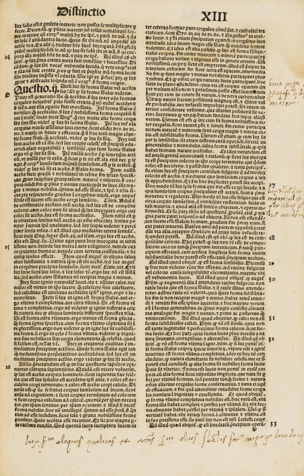 Lombardus (Petrus, Bishop of Paris) Sententiarum libri IV, Commentary by St Bonaventura and others, Tabula by Johannes Beckenhaub, Nuremberg, Anton Koberger, 1500.