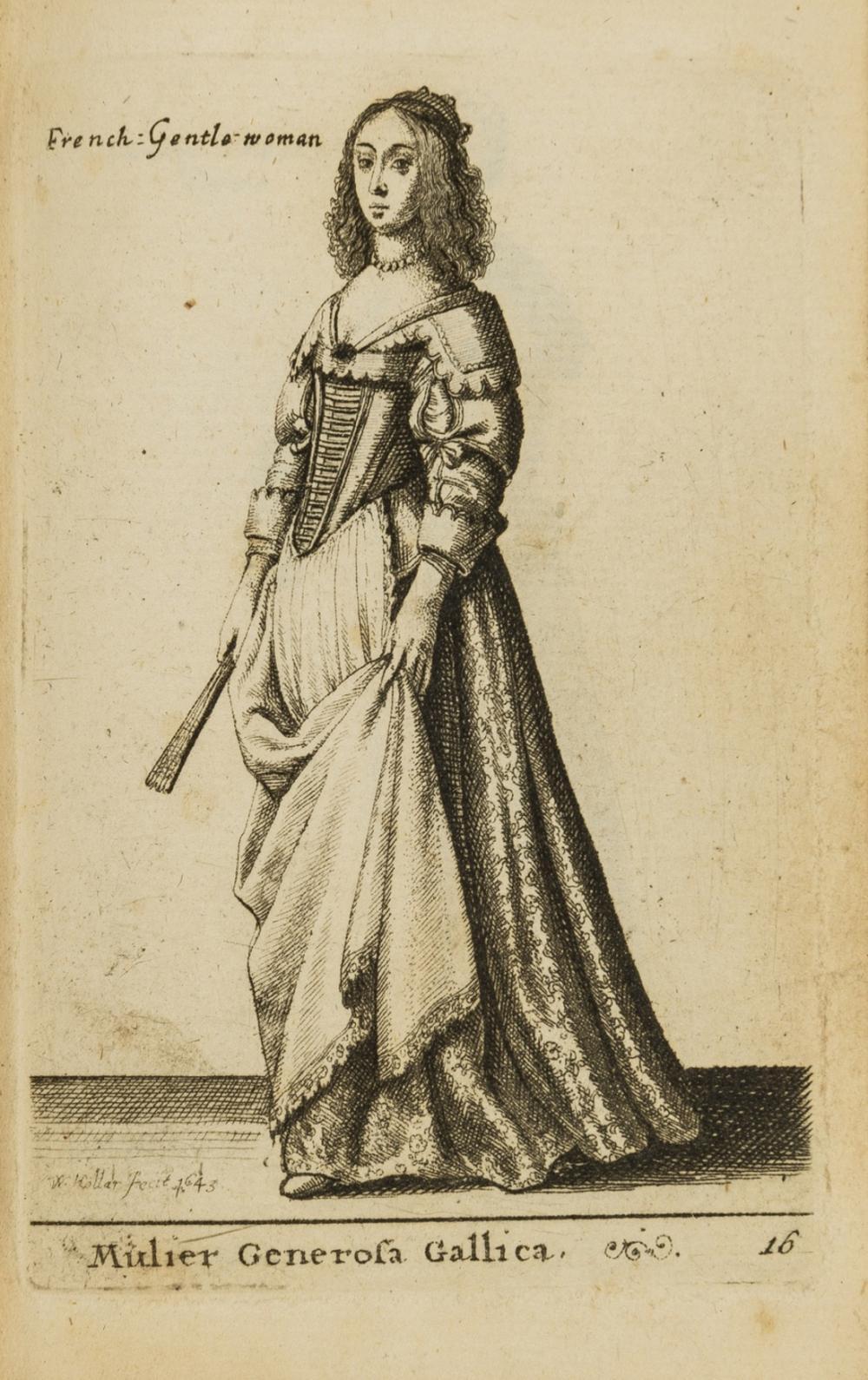 Hollar (Wenceslaus) Theatru[m] mulierum, sive varietas atq. differentia habitum foeminei sexus..., 48 engraved plates, Henry Overton, 1643.