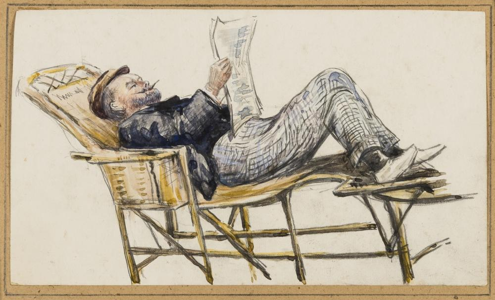 Conjuring.- English School (circa 1900) The British magician, Charles Bertram (1853-1907), watercolour, c.1900.