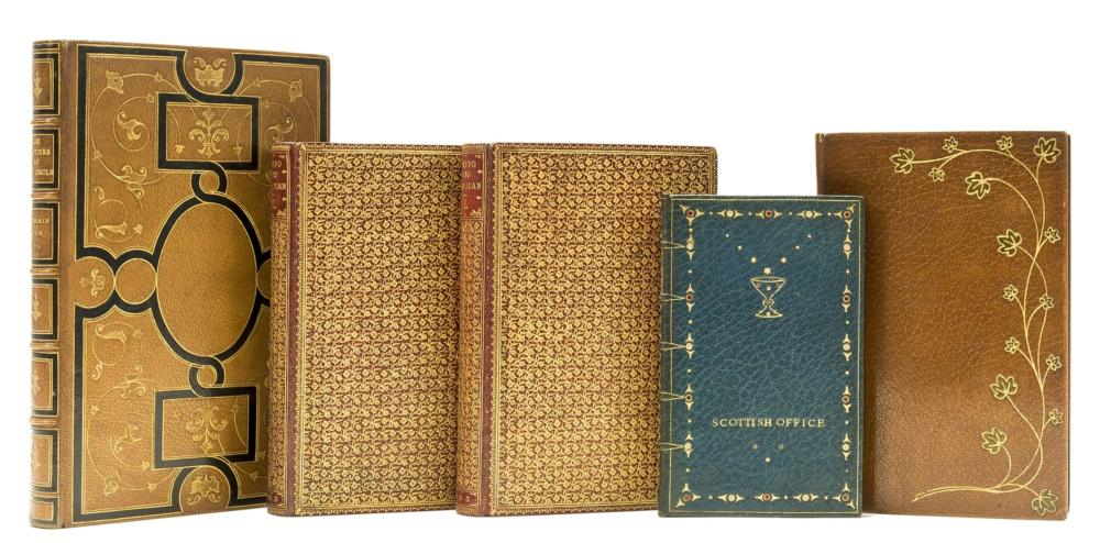 Bindings.- Byron (George Gordon Noel, Lord) Beppo and Don Juan, 2 vol., contemporary red morocco, gilt, by Riviere, 1853 & others, bindings (5)