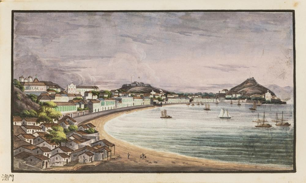 China.- Chinese Export School (circa 1830s) A souvenir album with 53 fine original watercolours, [1830s]