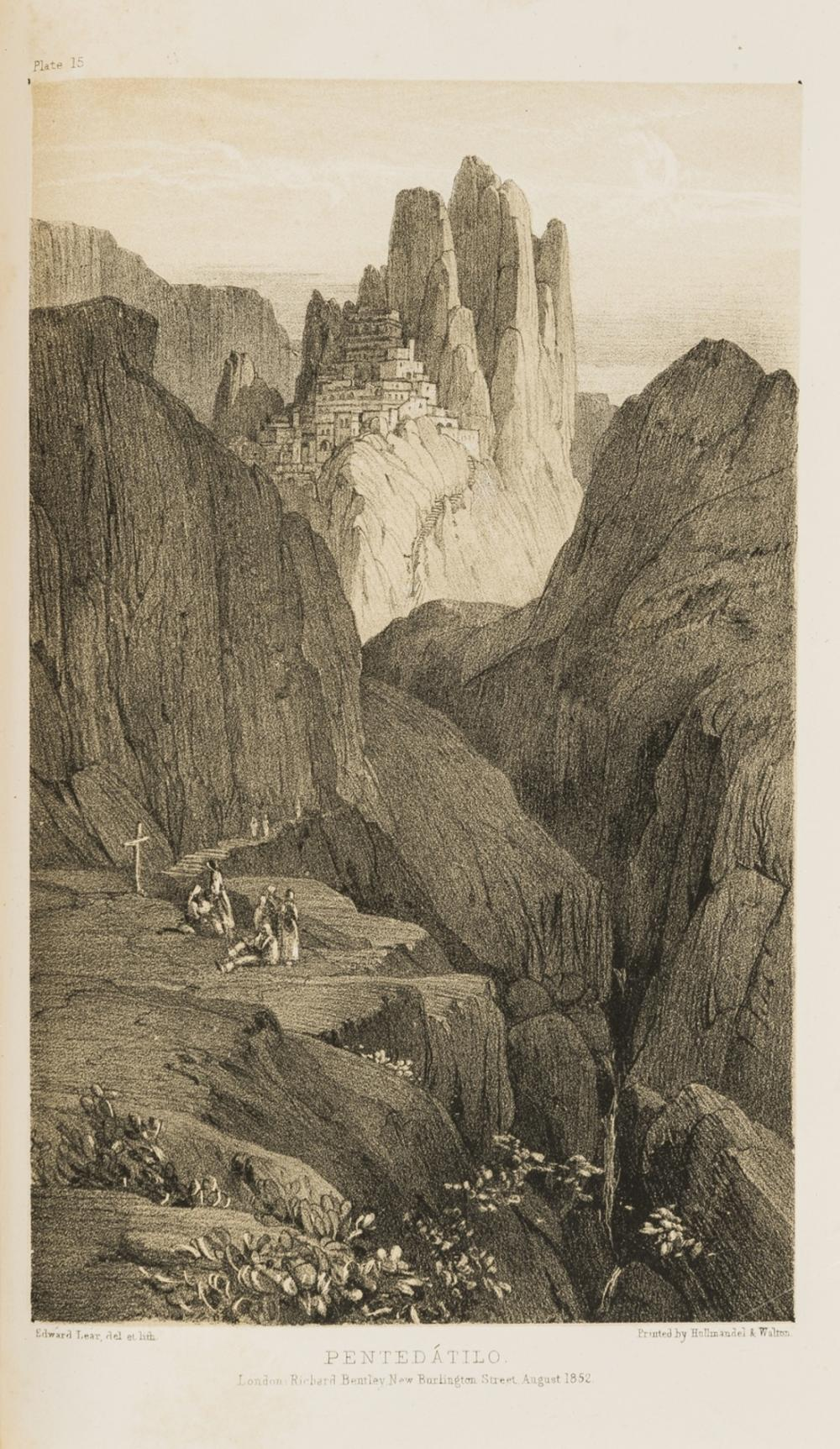 Italy.- Lear (Edward) Journals of a Landscape Painter in Southern Calabria, 2 parts in 1, first edition, inscribed by Douglas Freshfield, 1852.