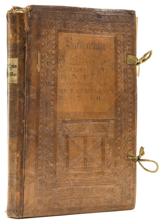 Binding.- Quintilianus (Marcus Fabius) Oratiarum institutionum, [Venice], [Bernardino de Viani], 1522.