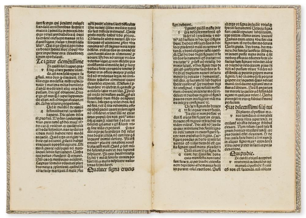 Henricus de Hassia () Secreta sacerdotum, edited by Michael Lochmaier, [Nuremberg], [Georg Stuchs], 1497.