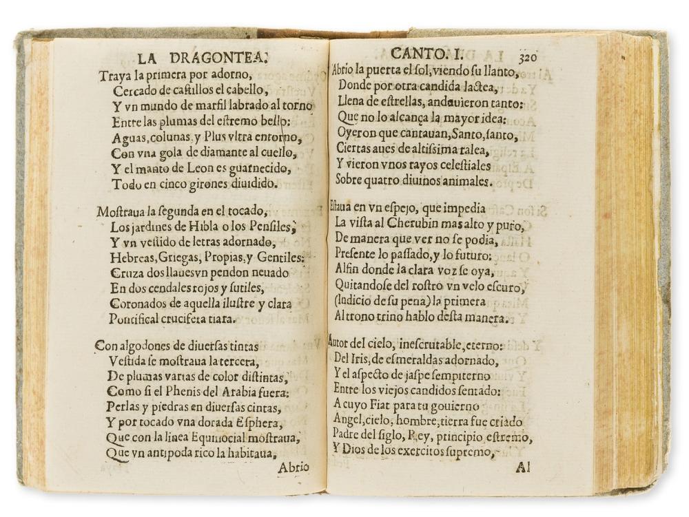 Drake (Sir Francis).- Vega Carpio (Lope de) La Hermosvra de Angelica, con otras diuersas Rimas, 3 parts, with La Dragontea on Drake's final expedition, Barcelona, Miguel Menescal, 1604.
