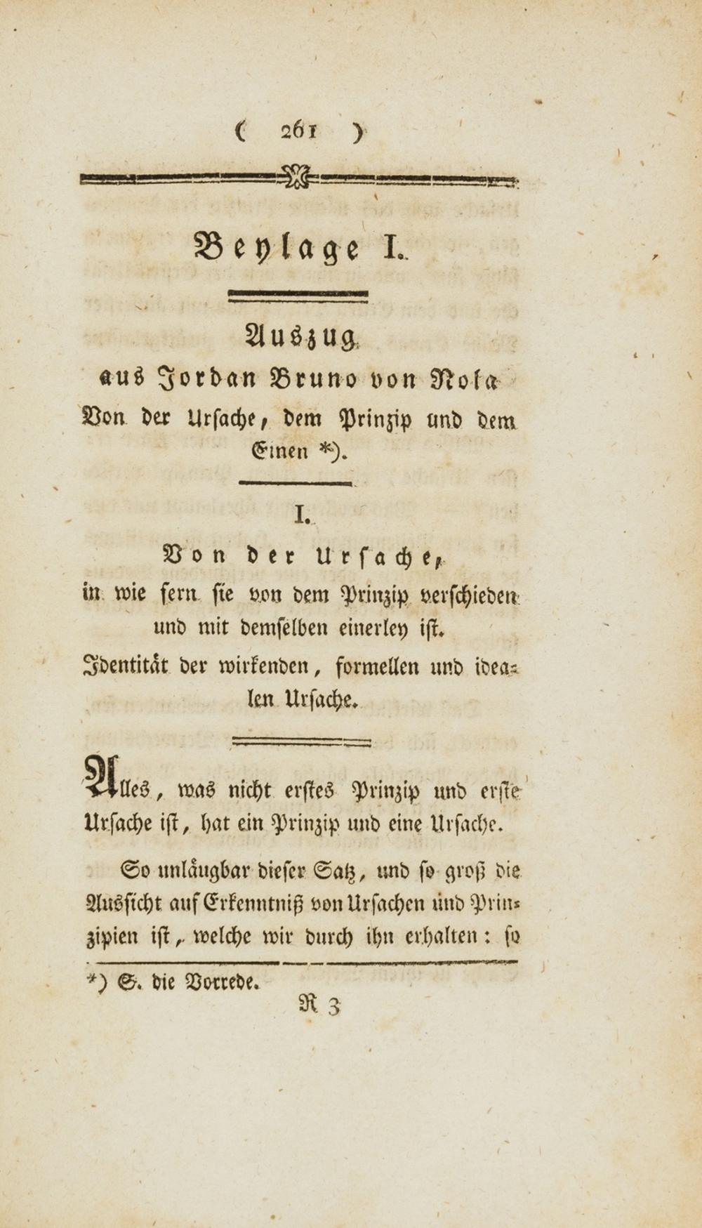 Bruno (Giordano).- Spinoza (Baruch) Ueber die Lehre des Spinoza in Briefen an den Herrn Moses Mendelssohn., Breslau, Löwe, 1789.