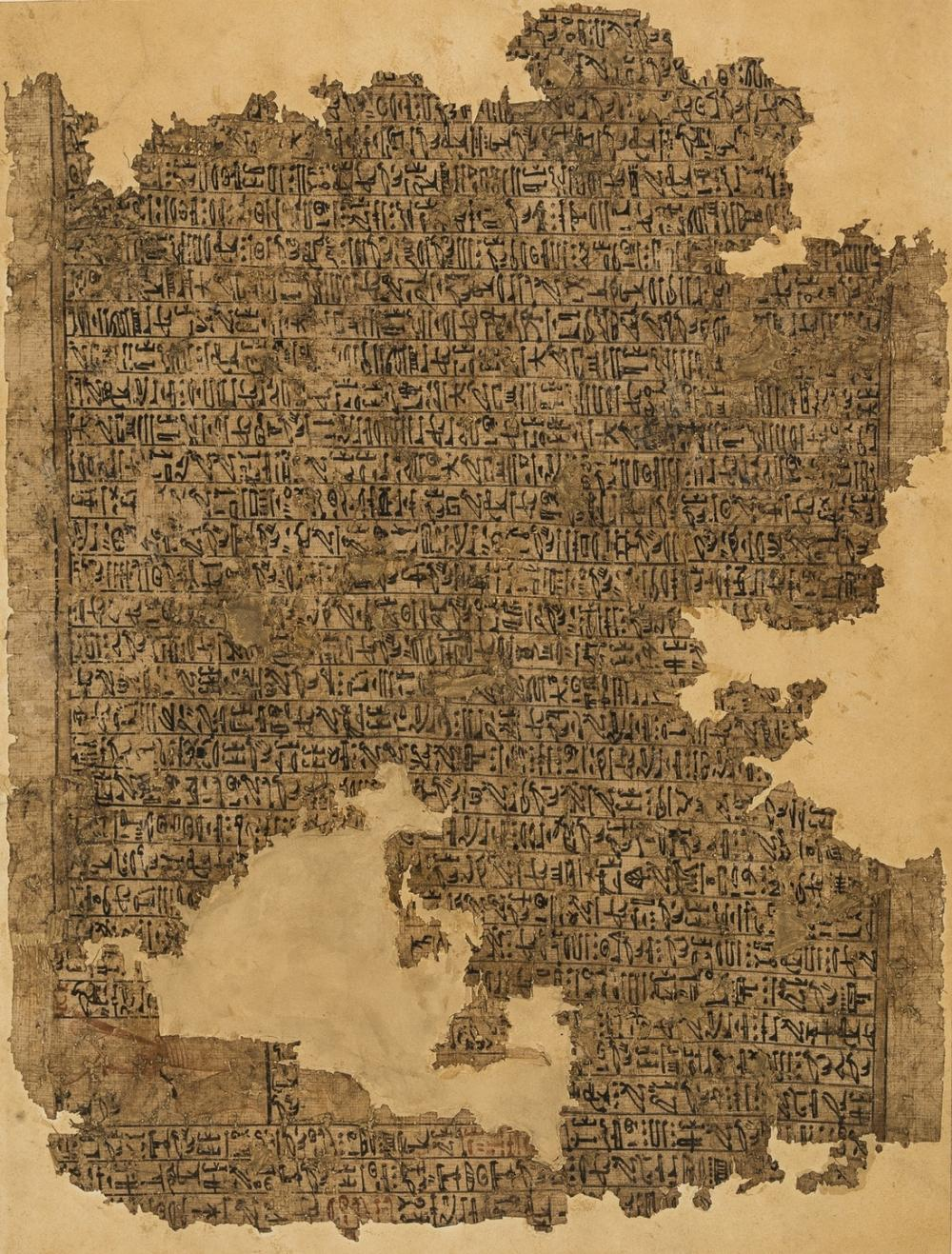 Egypt.- Papyrus.- Book of the Dead.- Large Fragment from the Book of the Dead, c.1550-1327 B.C..