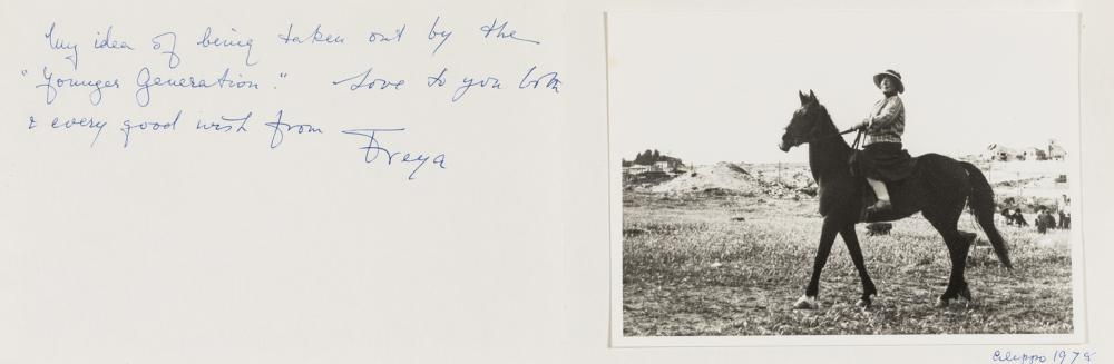 Stark  (Freya) 14 Autograph Letters signed to Richard and Lavender Goddard-Wilson, 2 Autograph Postcards signed & 6 Christmas cards signed, Tehran, Paris, Smyrna, Asolo - Italy, 1951 - 81, on a …