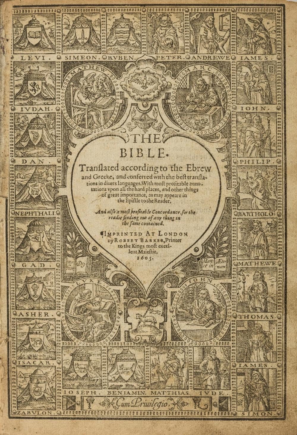 Bible (English) The Bible, 1605.