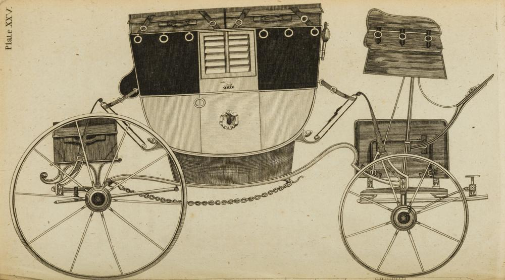 Carriages.- Felton (William) A Treatise on Carriages, 2 vol. in 1, first edition, for the Author, 1794.