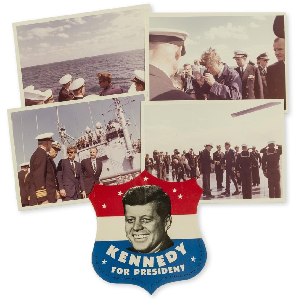 Kennedy (John F.).- Stoughton (Cecil) Group of 4 original photographs of Kennedy, 1961-3.