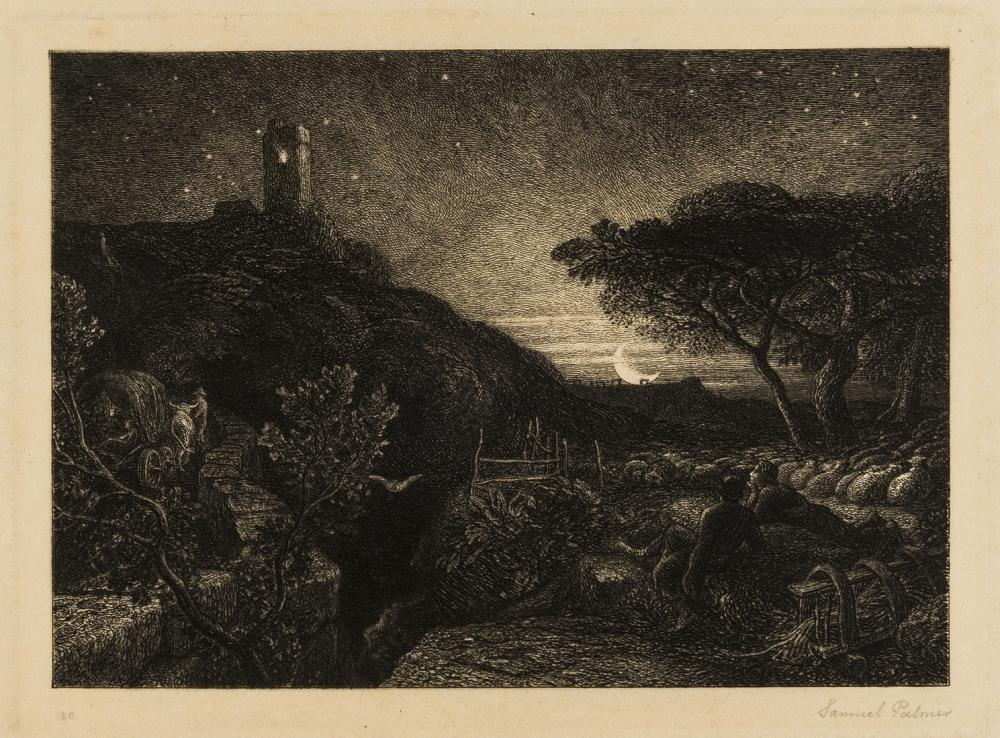 Palmer (Samuel, 1805-1881) The Lonely Tower, etching, 1879.