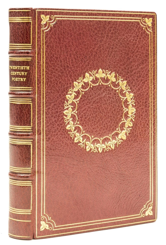 Beaumont-Wright (Daphne, binder).- Monro (Harold) Twentieth Century Poetry, bound in russet goatskin by Beaumont-Wright, 1930.