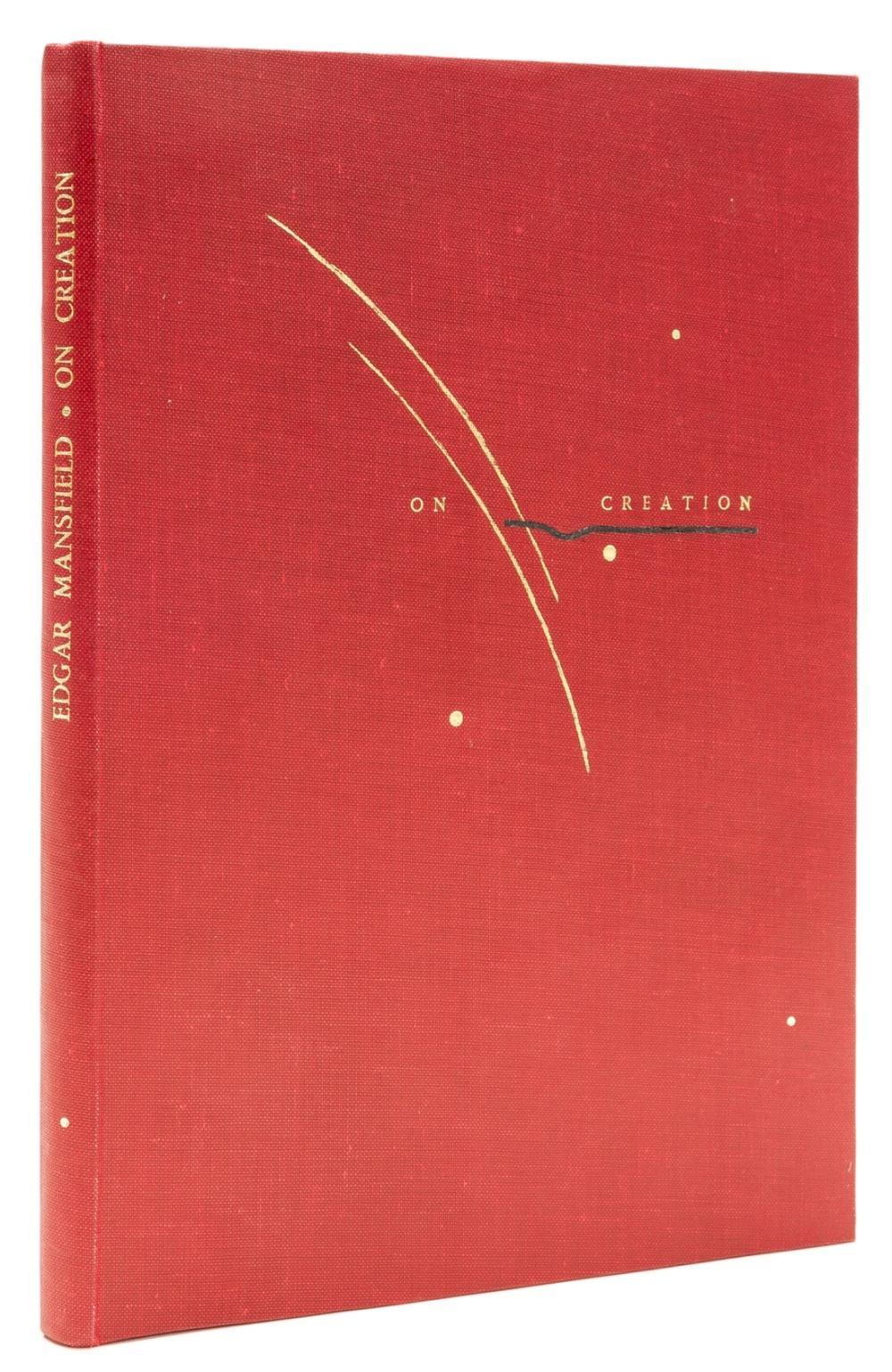 Corbett (Judy, binder).- Mansfield (Edgar) On Creation, one of 150 copies, Eastbourne, Hawk Press, 1981.