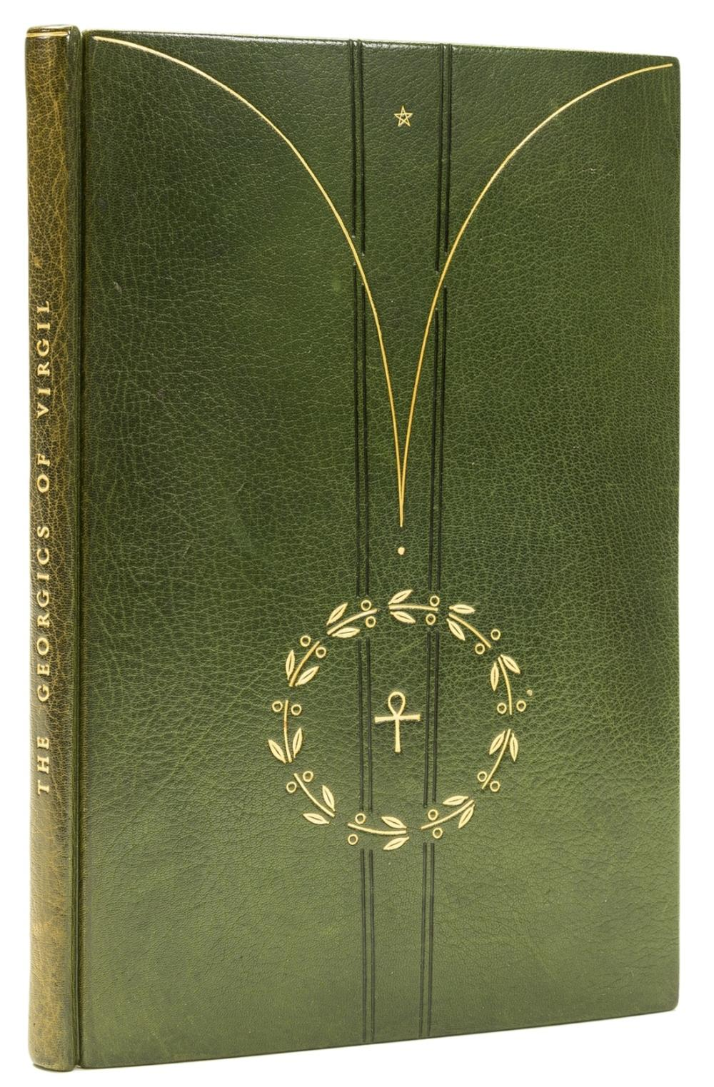 Powell (Roger, binder).- Virgilius Maro (Publius) The Georgics, bound in green goatskin tooled in gilt, by Roger Powell, 8vo, 1948.