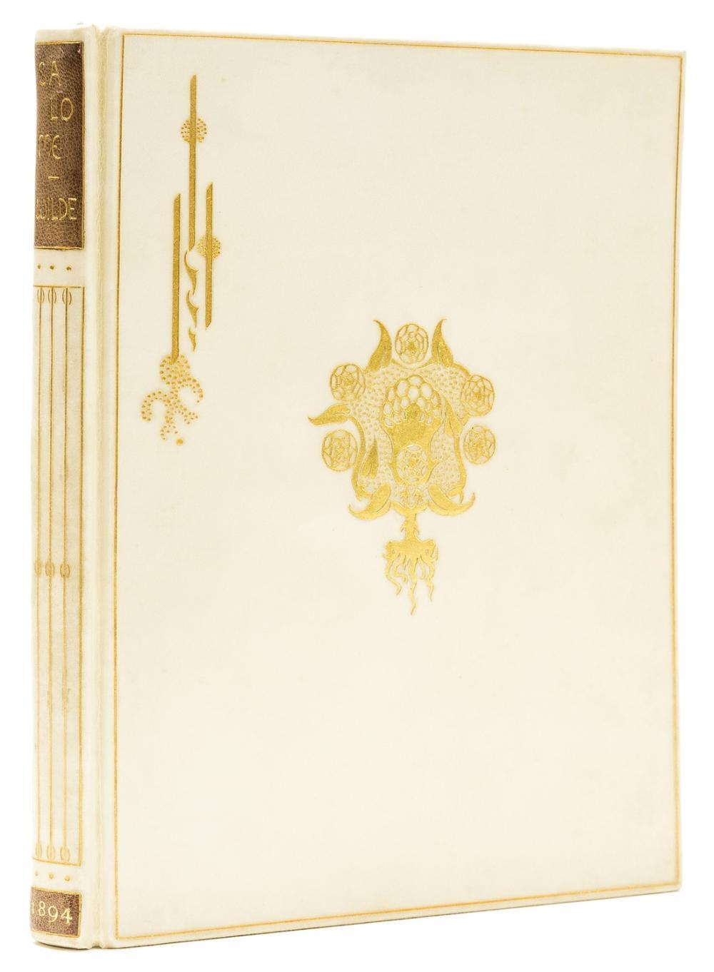Beardsley (Aubrey).- Wilde (Oscar) Salome, one of 100 copies on Japanese vellum, with the 3 suppressed plates, bound in vellum, gilt, 1894.
