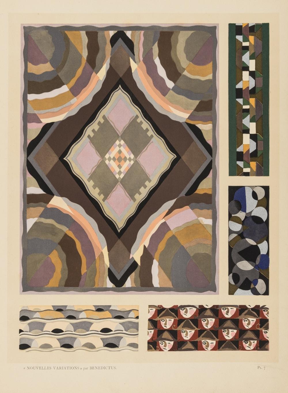 Benedictus (Edouard) Nouvelles Variations, 20 pochoir plates, Paris, 1929.