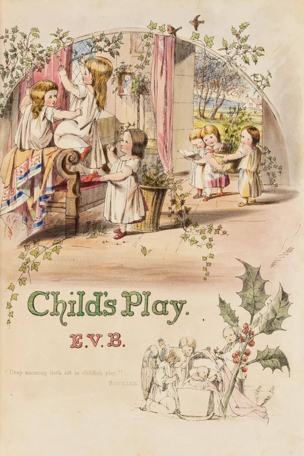 Boyle (Eleanor Vere) Child's Play, second edition, hand-coloured plates, 1853.