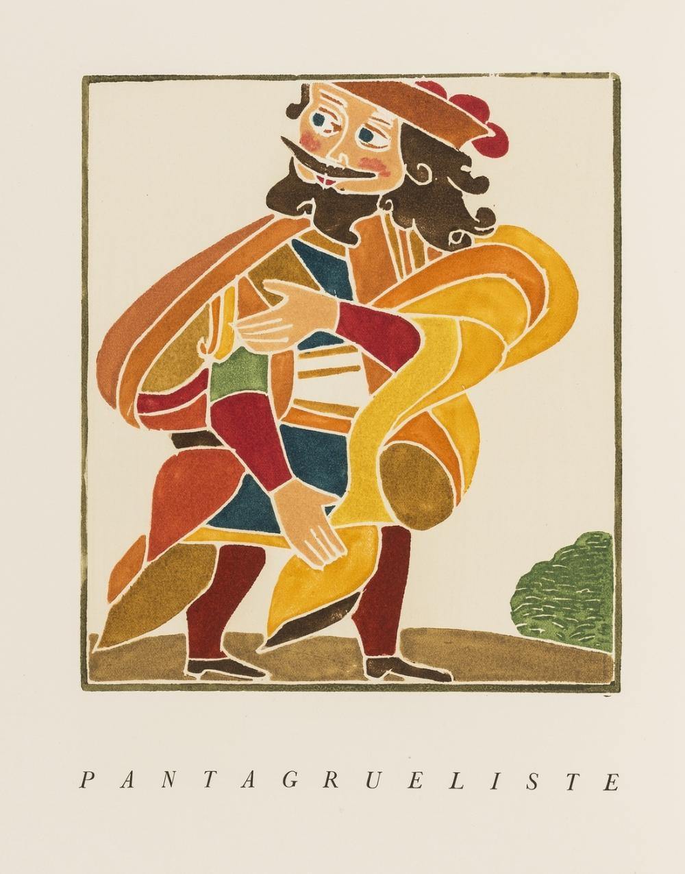 Derain (André).- Rabelais  (François) Les Horribles et Espovantables Faictz et Prouesses du Très Renommé Pantagruel..., one of 250 copies, colour woodcuts, Paris, 1943.