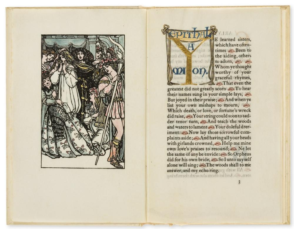 Essex House Press.- Spenser (Edmund) [Epithalamion], one of 150 copies on vellum, hand-coloured frontispiece, initials in gold or blue, 1900.
