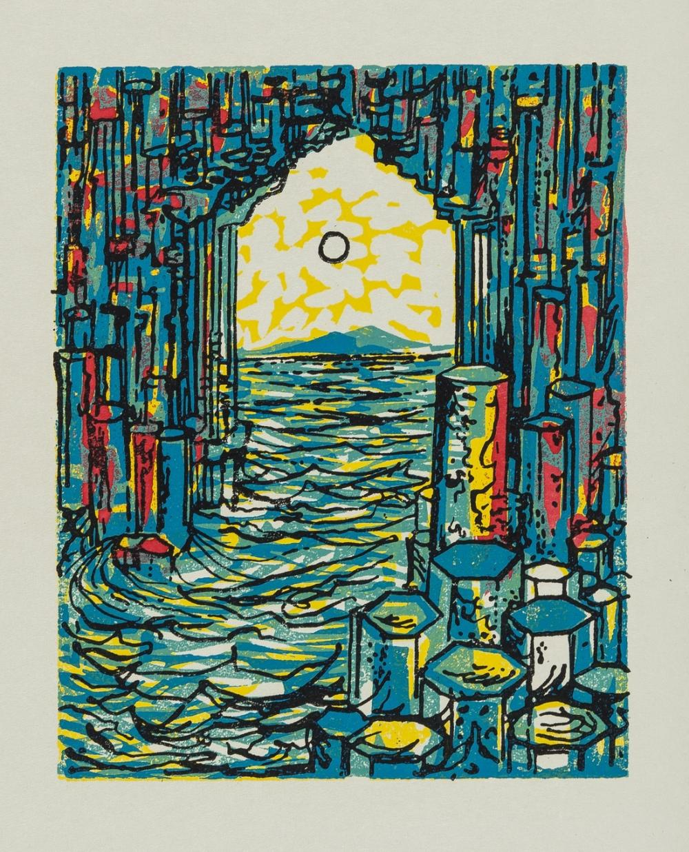 Graham (Rigby).- Scott (Thea) Fingal's Cave, limited edition, colour linocuts, Leicester, Pandora Press, 1962 & others, Graham (5)
