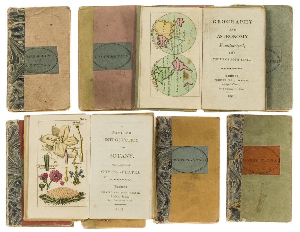 Miniature books.- Wallis (John, publisher) [The Book-Case of Knowledge], 10 vol., J. Wallis, 1800-1801.