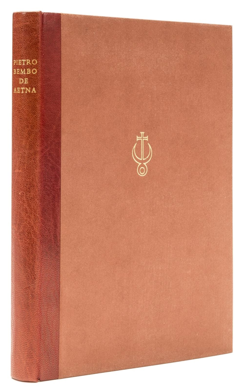 Officina Bodoni.- Bembo (Pietro) De Aetna Liber; On Etna, one of 125 copies, Verona, 1969.