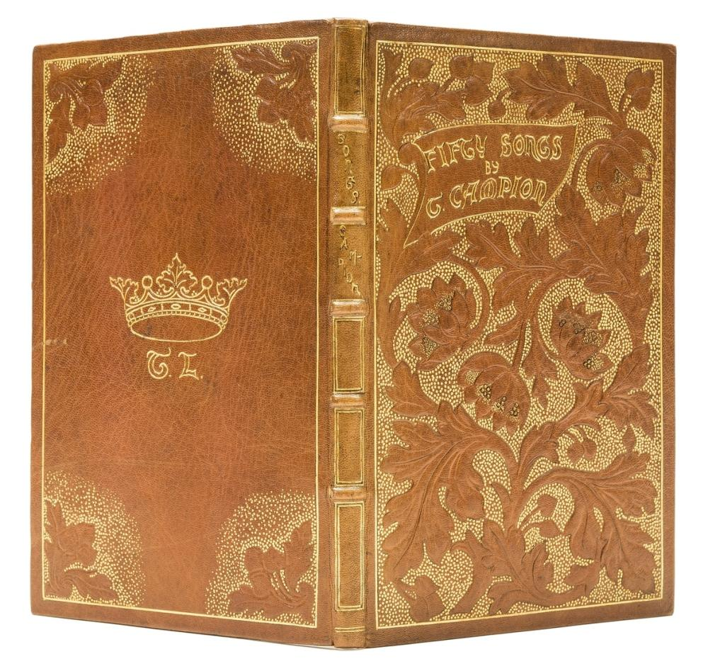 Vale Press.- Campion (Thomas) Fifty Songs, one of 210 copies, bound in repoussé tan morocco, gilt, by Chiswick Art Guild, 1896.