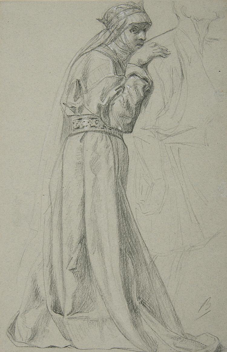 Bida (Alexandre), A Standing Woman in Renaissance Costume, 1880.