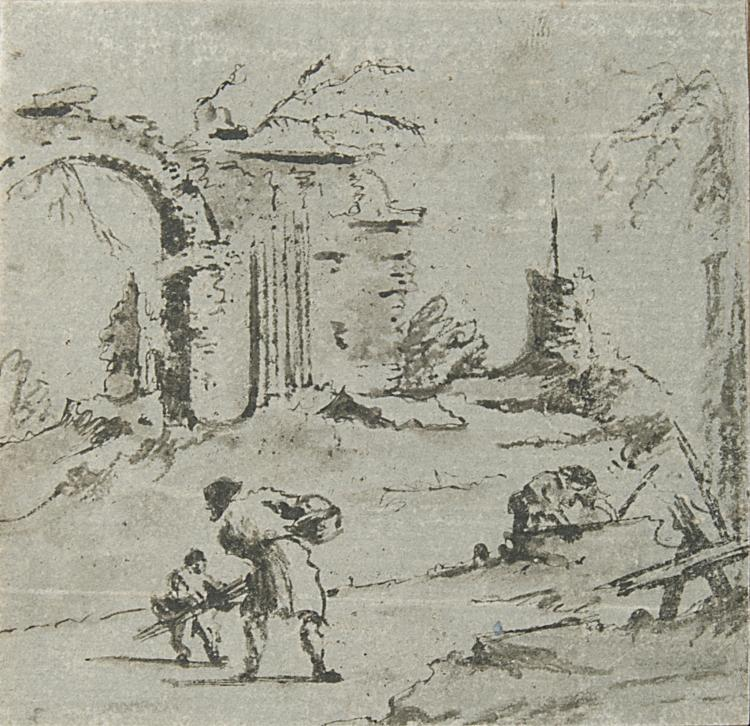 Guardi (Giacomo, 1764-1835), Capriccio with classical ruins and figures