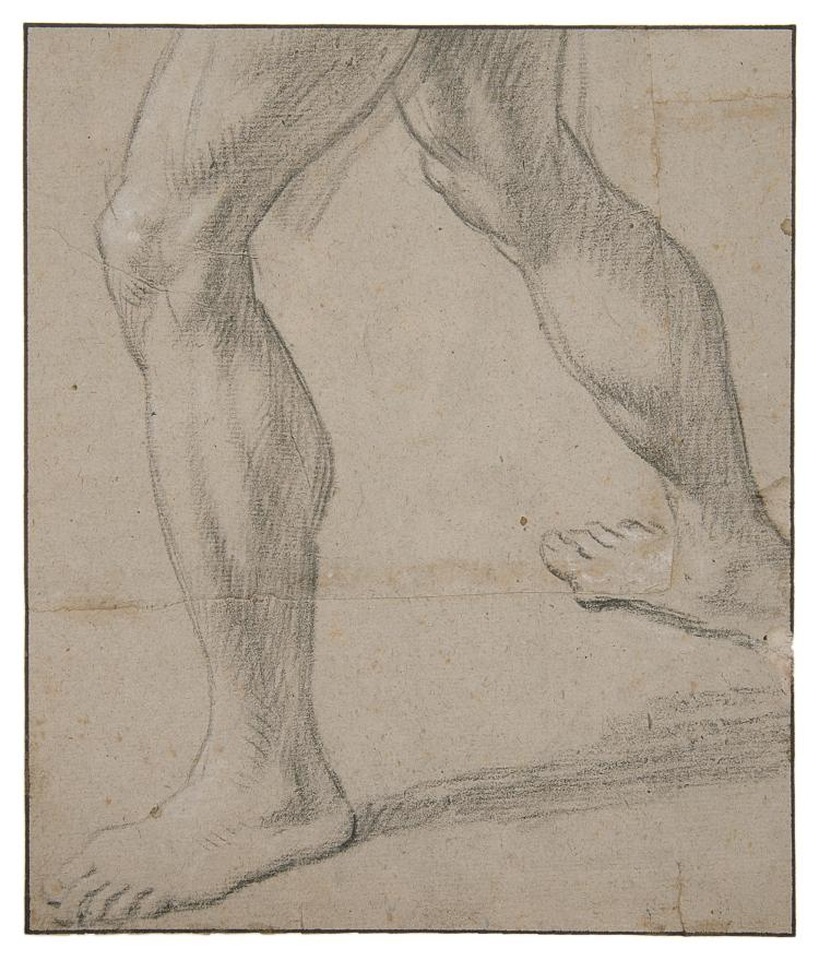 Follower of Guido Reni (1575-1642), Study of legs.