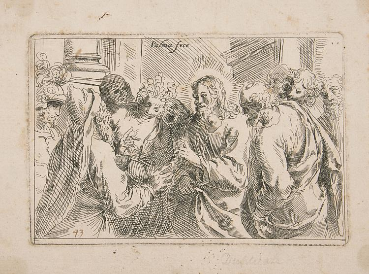 Negretti (Jacopo), known as Palma il Giovane (c.1548-1628), Christ and the Woman Taken in Adultery, circa 1611.