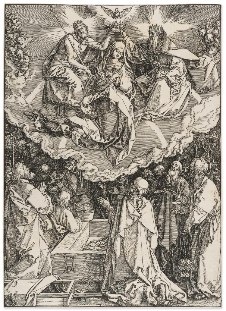 Dürer (Albrecht), The Assumption and Coronation of the Virgin, from: The Life of the Virgin.