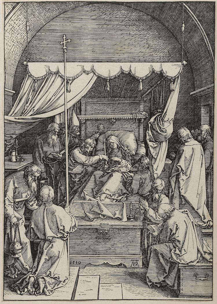 Dürer (Albrecht), The Death of the Virgin, from: The Life of the Virgin.