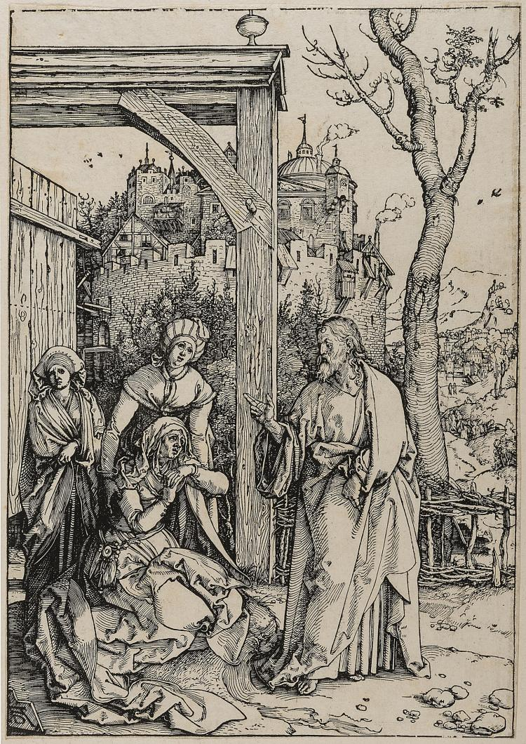 Dürer (Albrecht), Christ taking leave of his Mother, from: The Life of the Virgin.