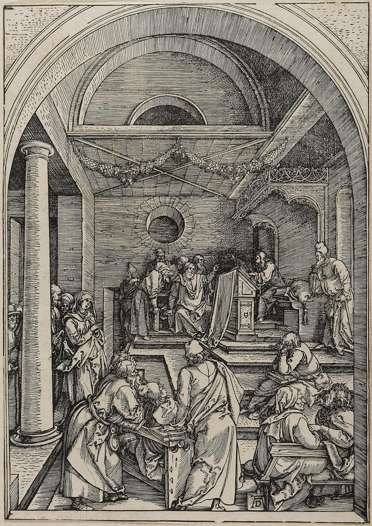 Dürer (Albrecht), Christ among the Doctors, from: The Life of the Virgin.