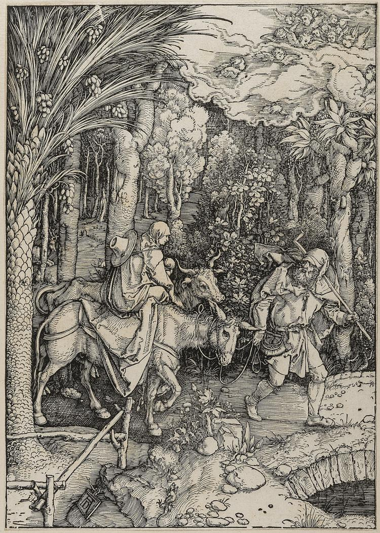 Dürer (Albrecht), The Flight into Egypt, from: The Life of the Virgin.